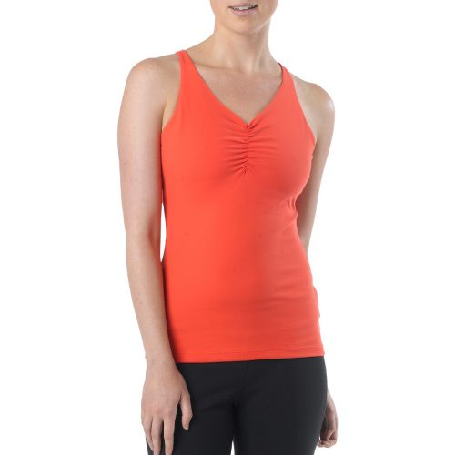 Womens Prana Sabin Chakara Tanks Technical Tops - Fire Red S