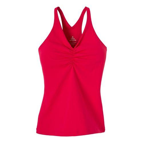 Womens Prana Sabin Chakara Tanks Technical Tops - Pink Berry XL