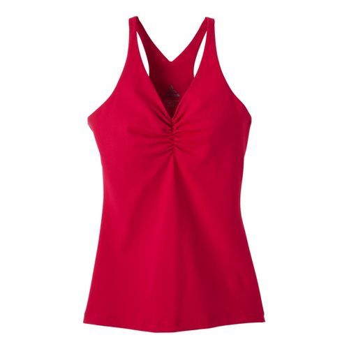 Womens Prana Sabin Chakara Tanks Technical Tops - Scarlet XS