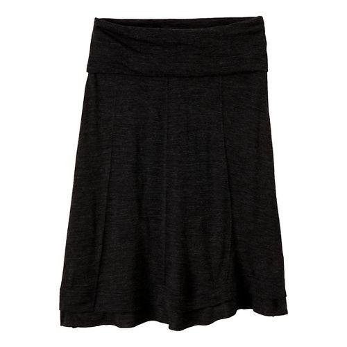 Womens Prana Daphne Fitness Skirts - Black XS