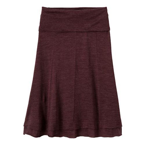 Womens Prana Daphne Fitness Skirts - Mahogany XL