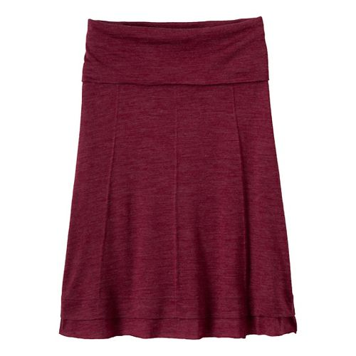 Womens Prana Daphne Fitness Skirts - Plum Red XL