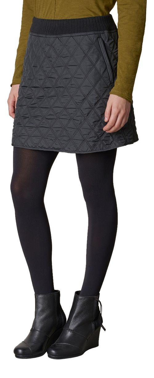 Womens prAna Diva Fitness Skirts - Black/Black S