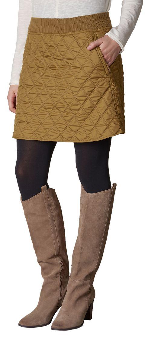 Womens prAna Diva Fitness Skirts - Brown XL