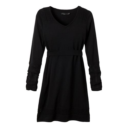 Womens Prana Ella Sweater Dress Fitness Skirts - Black S