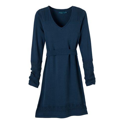 Womens Prana Ella Sweater Dress Fitness Skirts - Blue Ridge XL