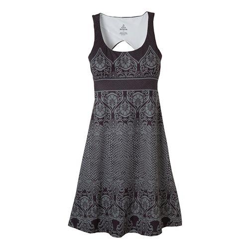 Womens Prana Holly Dress Fitness Skirts - Black XS