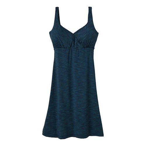 Womens Prana Ivy Dress Fitness Skirts - Dress Blue XS