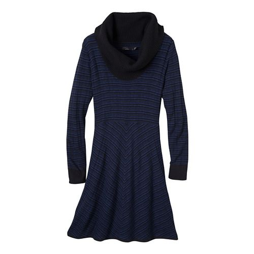 Womens Prana Monica Sweater Dress Fitness Skirts - Blue Twilight XL