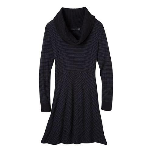 Womens Prana Monica Sweater Dress Fitness Skirts - Coal XL