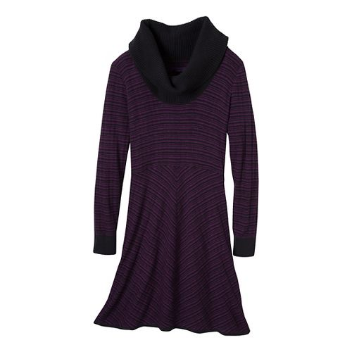 Womens Prana Monica Sweater Dress Fitness Skirts - Red Violet L