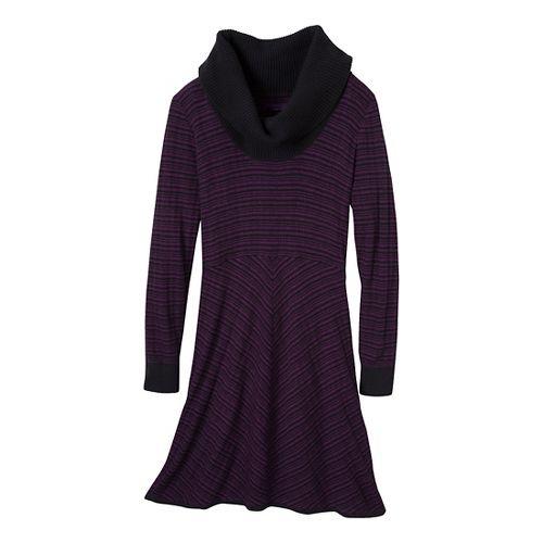 Womens Prana Monica Sweater Dress Fitness Skirts - Red Violet XL
