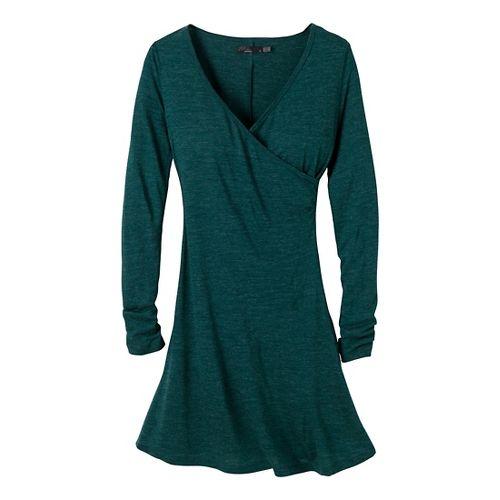 Womens Prana Nadia LS Dress Fitness Skirts - Deep Teal XL