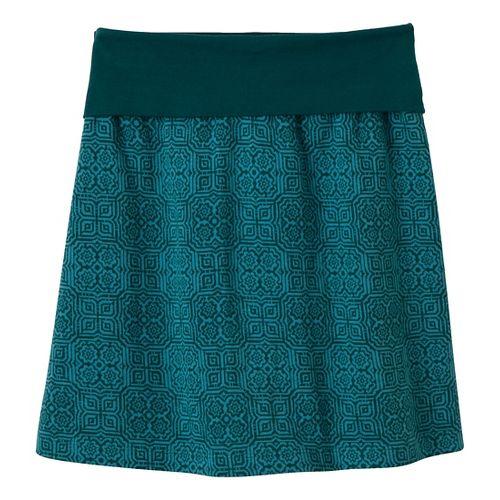 Womens Prana Roma Fitness Skirts - Deep Teal M
