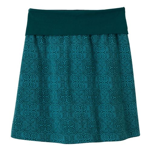 Womens Prana Roma Fitness Skirts - Deep Teal XS