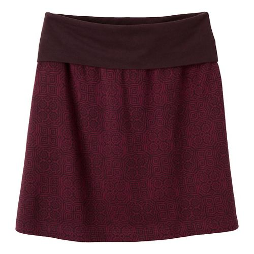 Womens Prana Roma Fitness Skirts - Rich Cocoa XS