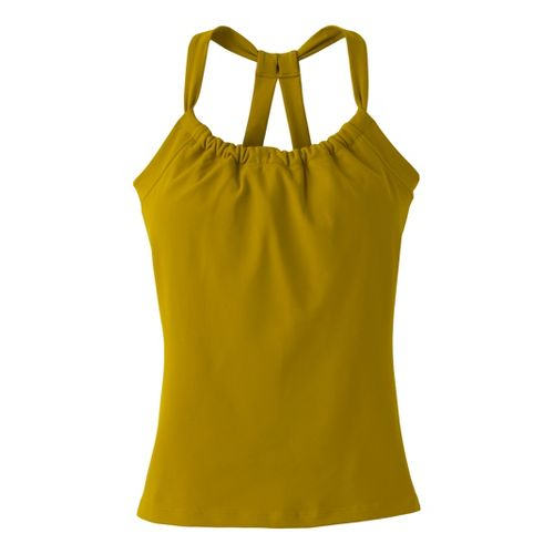 Womens Prana Quinn Chakara Tanks Technical Tops - Agave S