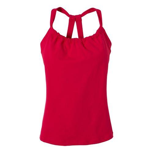 Womens Prana Quinn Chakara Tanks Technical Tops - Pink Berry L