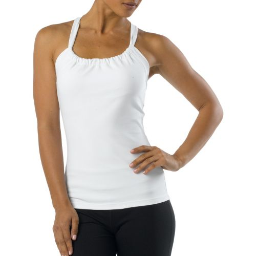 Womens Prana Quinn Chakara Tanks Technical Tops - White XS
