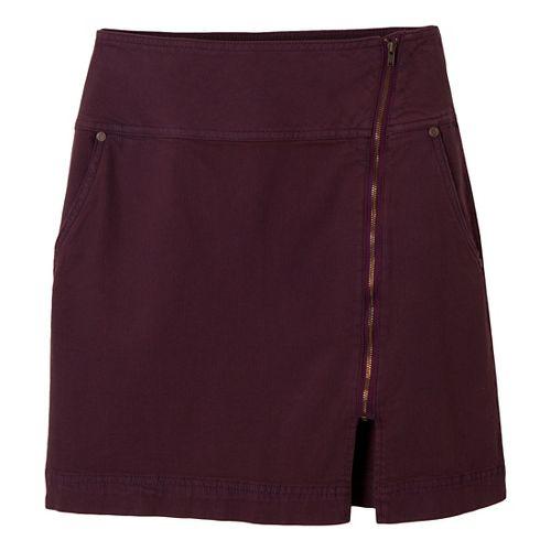 Womens Prana Tamsin Fitness Skirts - Mahogany 4