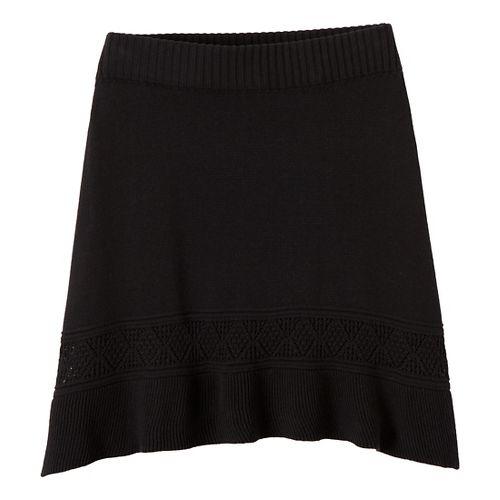 Womens Prana Thea Sweater Fitness Skirts - Black XL