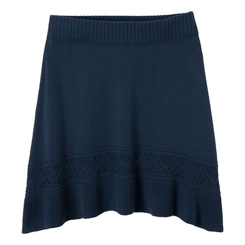 Womens Prana Thea Sweater Fitness Skirts - Blue Ridge XL