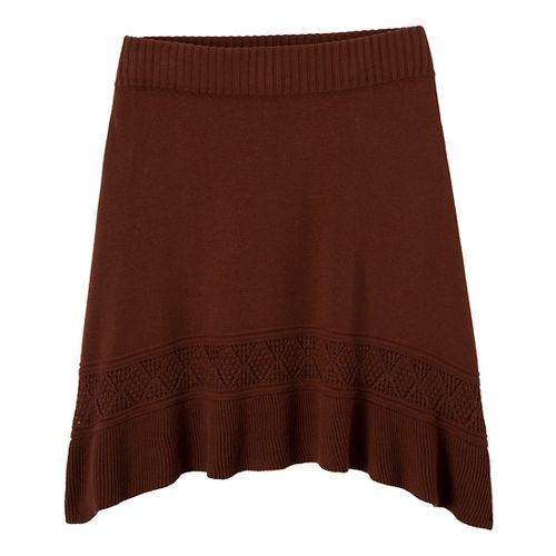 Womens Prana Thea Sweater Fitness Skirts - Terracotta XS