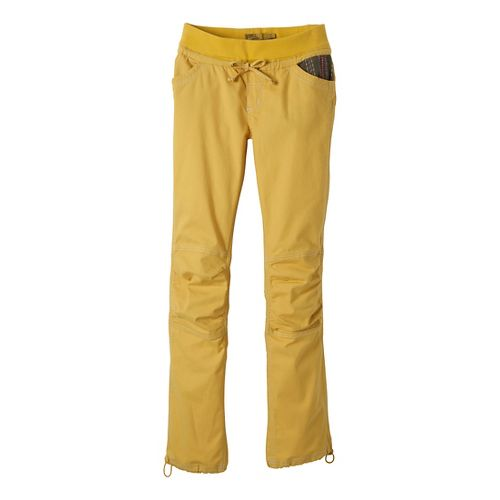 Womens Prana Avril Full Length Pants - Lemon L