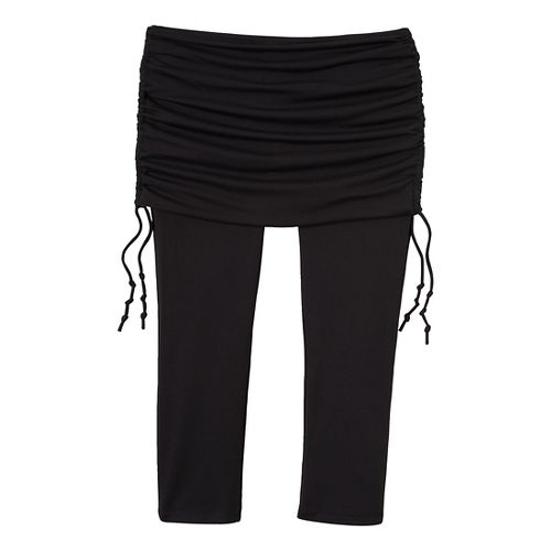 Womens Prana Cassidy Fitness Capris - Black XS