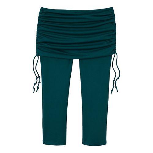 Womens Prana Cassidy Fitness Capris - Deep Teal L