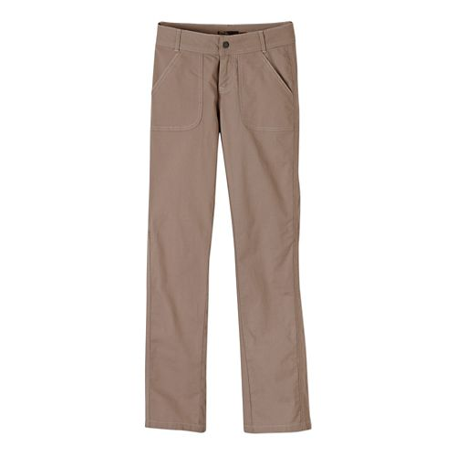 Womens Prana Evie Full Length Pants - Dark Khaki 2