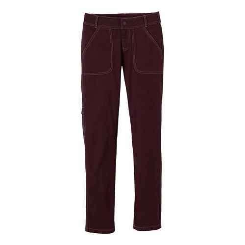 Womens Prana Evie Full Length Pants - Mahogany 2