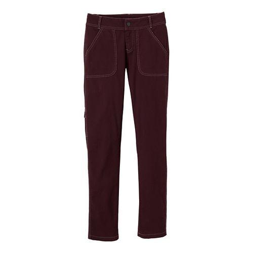Womens Prana Evie Full Length Pants - Mahogany 8