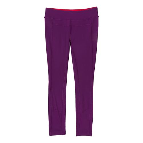 Womens Prana Gabi Legging Fitted Tights - Red Violet M