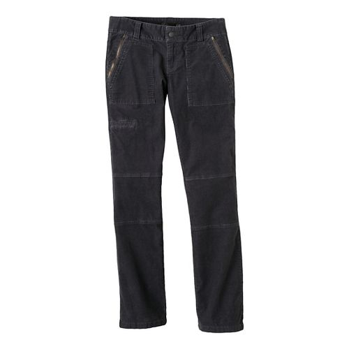 Womens Prana Jamie Cord Full Length Pants - Coal 10