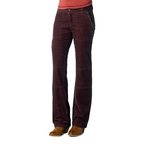 Womens Prana Jamie Cord Full Length Pants - Thistle 2