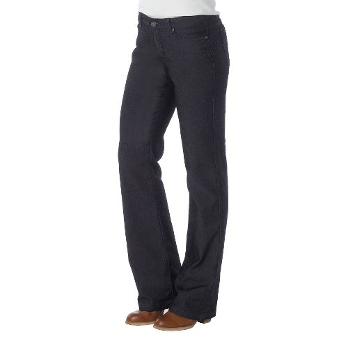 Womens Prana Jada Jean Full Length Pants - Black 8S