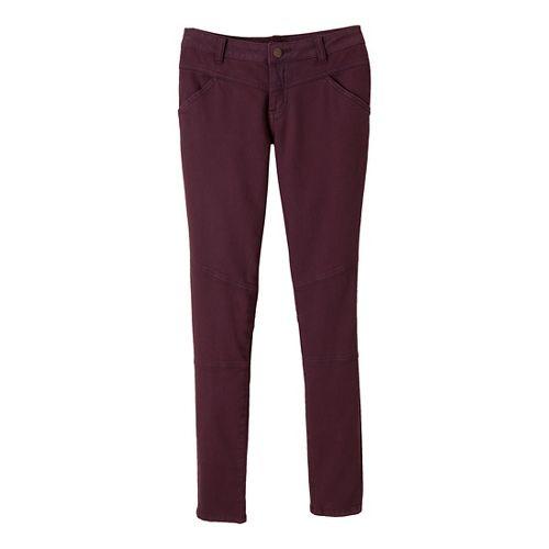 Womens Prana Jodi Full Length Pants - Mahogany 14