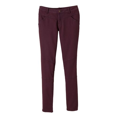 Womens Prana Jodi Full Length Pants - Mahogany 6