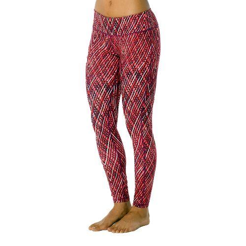 Womens Prana Maison Legging Full Length Pants - Pink Bengal/Sierra XL