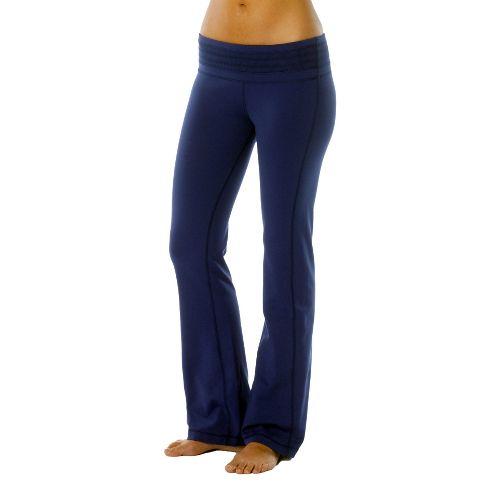 Womens Prana Olympia Full Length Pants - Blue Twilight XS