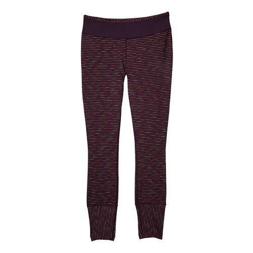 Womens Prana Sapphire Legging Fitted Tights - Dark Plum S
