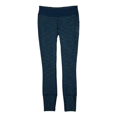 Womens Prana Sapphire Legging Fitted Tights - Dress Blue XL