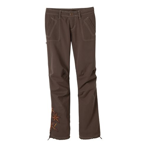 Womens Prana Zina Full Length Pants - Mud 8