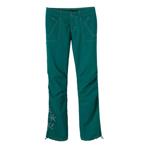 Womens Prana Zina Full Length Pants - Sea Green 2