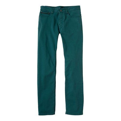 Mens Prana Theorem Jean Full Length Pants - Deep Teal 33