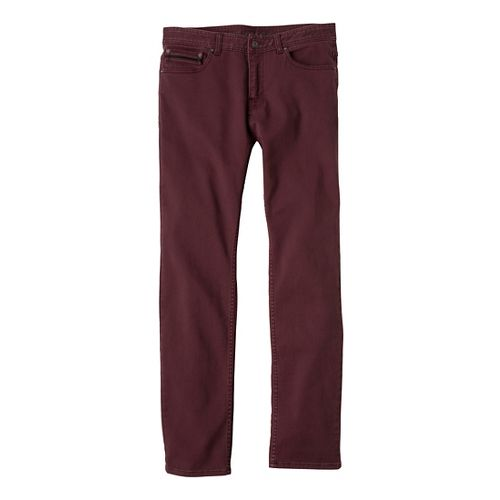 Mens Prana Theorem Jean Full Length Pants - Mahogany 31