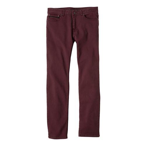Mens Prana Theorem Jean Full Length Pants - Mahogany 38S