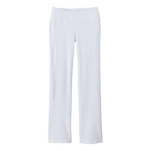 Womens Prana Audrey Full Length Pants - White XS
