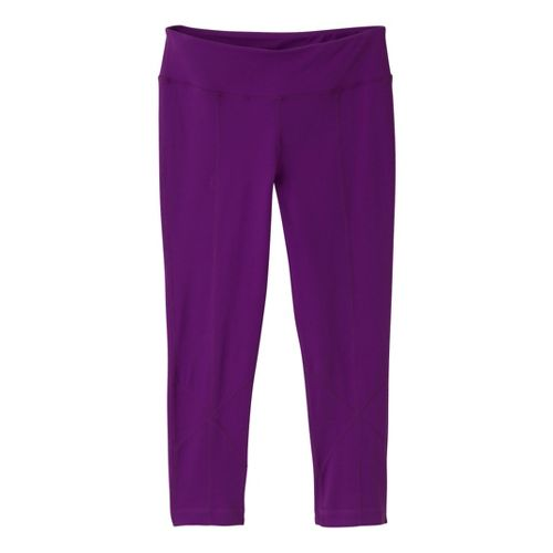 Womens Prana Prism Legging Capri Tights - Amethyst L